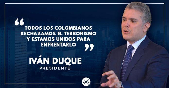 El presidente Iván Duque repudia atentado en Bogotá