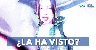 menor desaparecida Bogotá