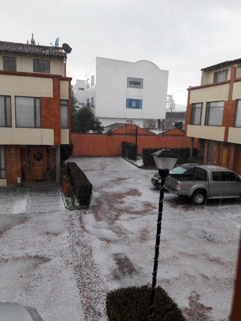 Fuerte granizada en Chía