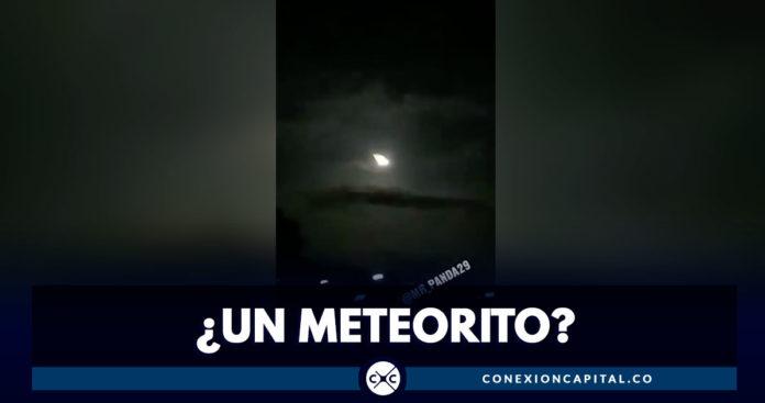 supuesto meteorito en venezuela