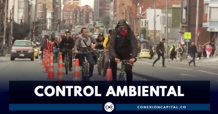 Controles ambientales durante el día sin carro en Bogotá