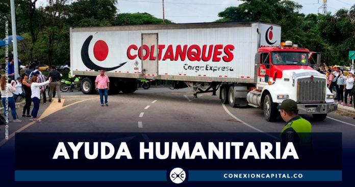 Camiones con ayuda humanitaria para Venezuela llegan a la frontera con Colombia
