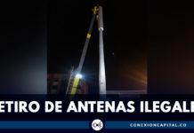 Alcaldía Peñalosa retira antenas ilegales instaladas en espacio público