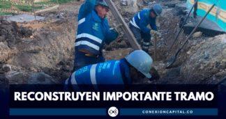 reconstruyen importante trabajo autopista norte