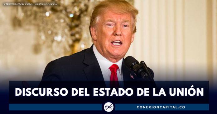 Tono conciliador de Trump en discurso del Estado de la Unión