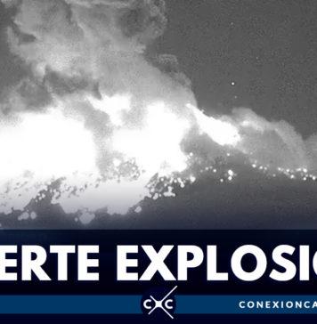 En video: así fue la explosión del volcán Popocatépetl en México