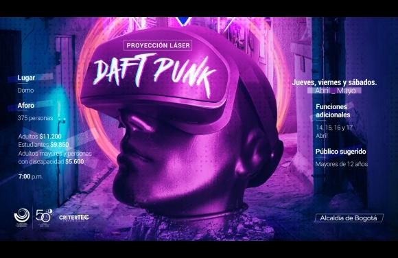 Show láser de Daft Punk en el Planetario