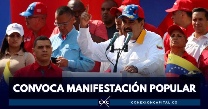 Nicolás Maduro pide movilización del pueblo venezolano para defender la democracia