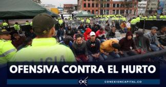 Capturados 268 integrantes de estructuras criminales en Bogotá