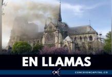 catedral de paris arde en llamas