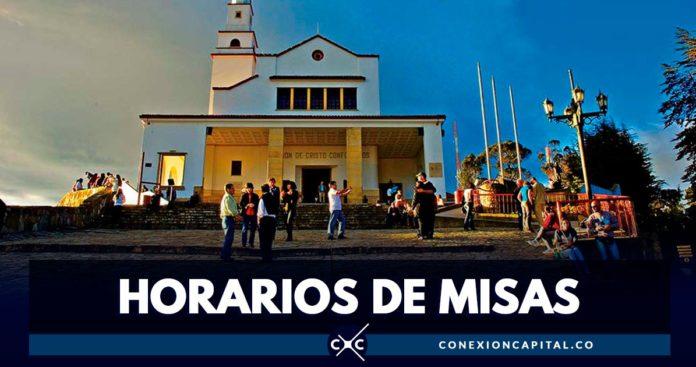 horario de misas en Monserrate