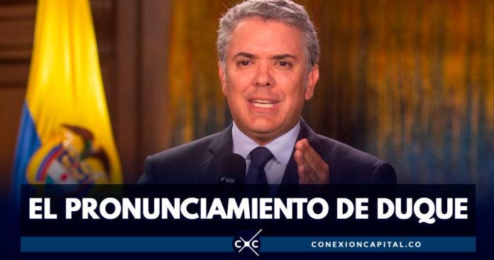 Iván Duque pide que no se frenen obras de infraestructura en Bogotá