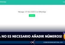 mensajes de whatsapp contactos no agregados