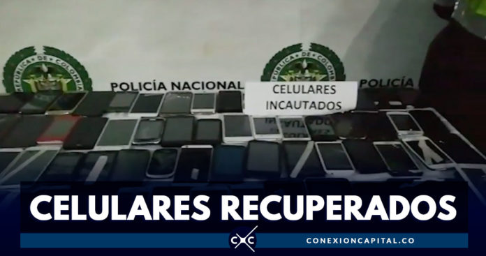 Autoridades recuperaron cerca de 124 celulares robados
