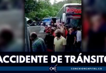 EN VIDEO: bus que transportaba hinchas de Junior se accidentó en carretera