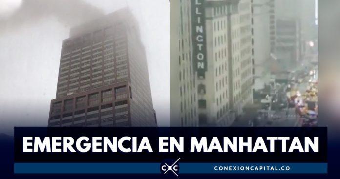 Helicóptero se estrelló en el centro de Manhattan