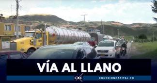 Continúa el cierre preventivo de la vía Bogotá -Villavicencio