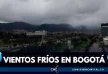 vientos fríos en Bogotá