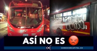buses vandalizaos transmilenio