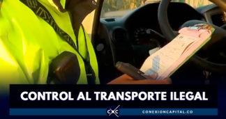 En Bogotá se han inmovilizado más de 8.000 vehículos por transporte ilegal