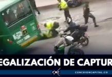 muerte de policía en Bogotá