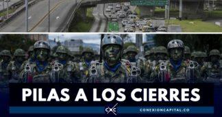 cierres 20 de julio en Bogotá