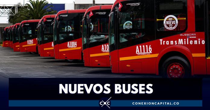 Empezaron a rodar los primeros 140 buses de TransMilenio a gas natural en Bogotá