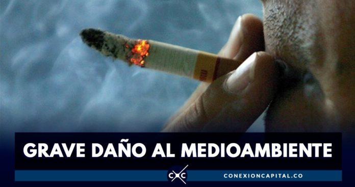 colillas de cigarrillos en Bogotá