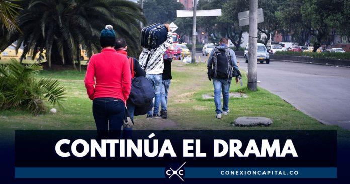 drama venezolanos en el terminal salitre