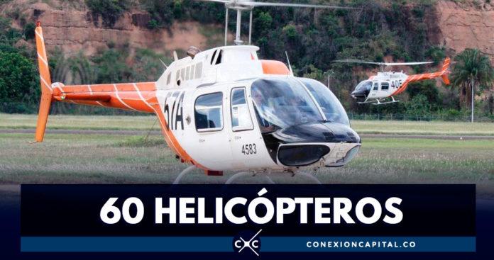Estados Unidos entregó helicópteros a la Fuerza Aérea Colombiana