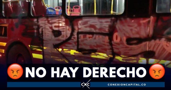 vandalizan bus de tm