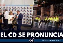 rueda de prensa centro democrático sobre audiencia de uribe