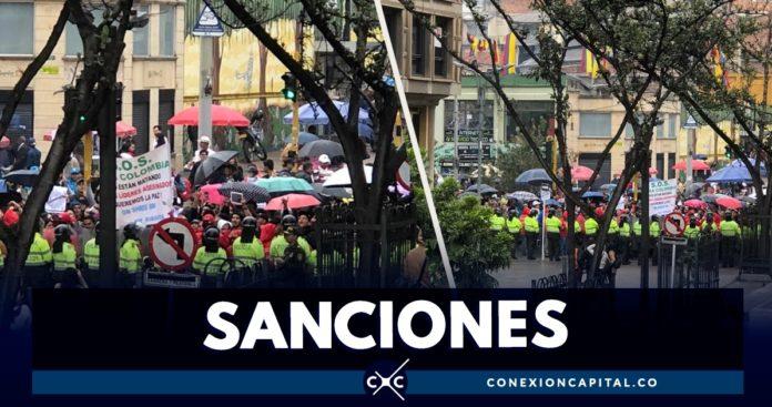 sanciones migrantes infiltrados en marchas