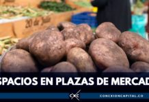 campesinos en plazas de mercado
