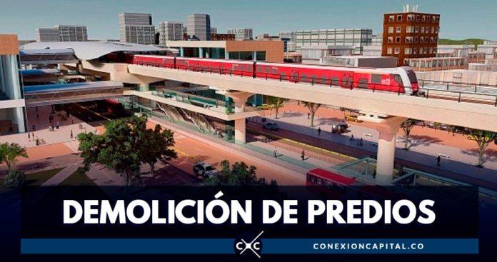 demolición de predios empresa Metro