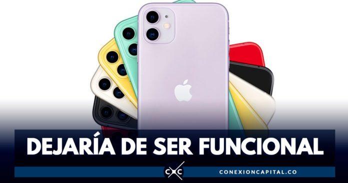 celular de apple que dejaría de funcionar