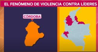 Violencia contra líderes en Colombia.
