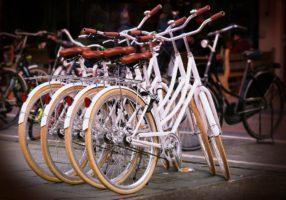 Exhibición de bicicletas.