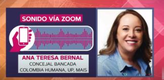 Ana Teresa Bernal concejal de Colombia Humana