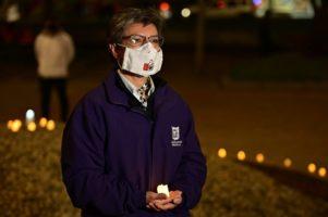 Velatón por las víctimas de violencia en Bogotá