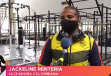 Jackeline Rentería, luchadora colombiana.