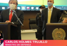 ministro de Defensa Carlos Holmes Trujillo.