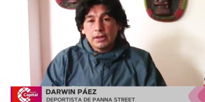 Darwin Páez, deportista panna street.