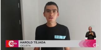 Hurto a ciclista Harold Tejada.